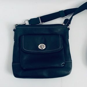 Small Black Leather Coach Purse Crossbody